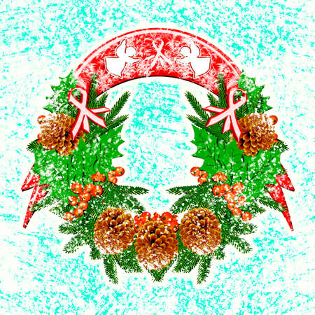 Christmas wreath. Illustration. illustration