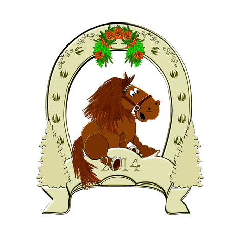 signifier: Horseshoe. Horse symbol 2014. New Year.