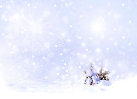 Winter landscape. Winter Forest. Christmas card.