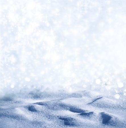 Background of snow. Winter landscape. Photo. Stock Photo