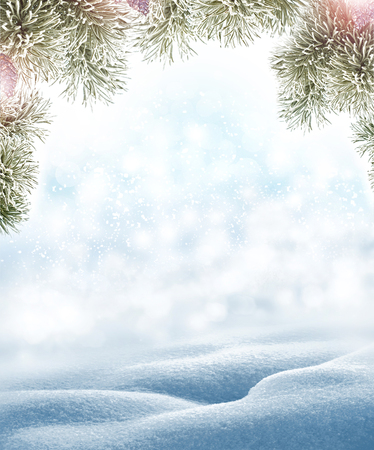 Background of snow. Winter landscape. photo