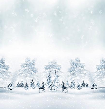 Winter. Snowfall. christmas card