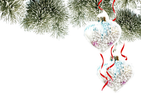 Christmas background. Christmas toy. Heart.