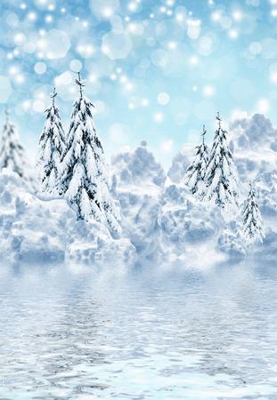paysage hiver: paysage hivernal Banque d'images