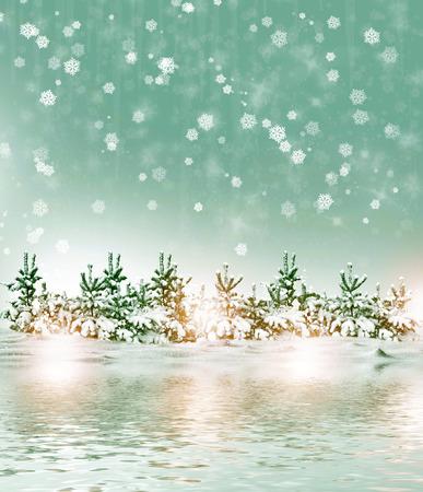 paysage hiver: Winter Forest. Paysage d'hiver.