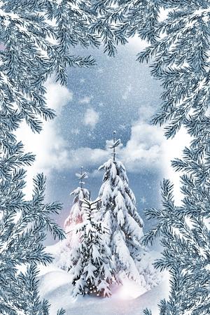 Winter landscape Standard-Bild