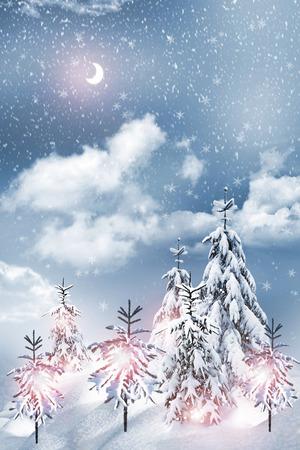 paysage hiver: Paysage d'hiver Banque d'images