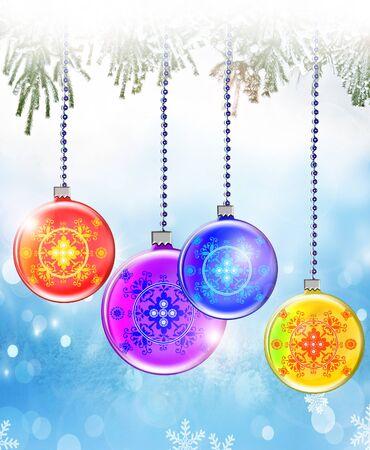 christmas toy: Christmas toy balls Stock Photo
