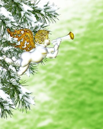 angel tree: Christmas Tree and Angel