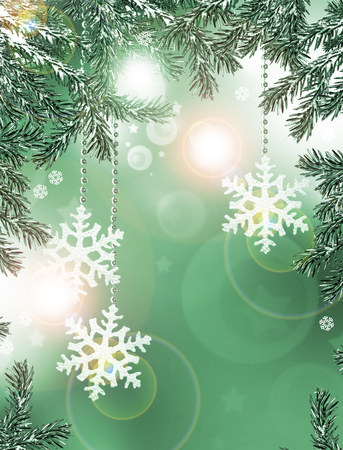 frippery: Christmas tree decorated with toys Stock Photo