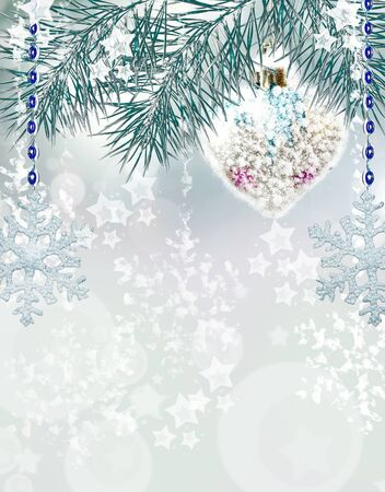 christmas toy: Christmas background. Christmas toy. Heart.