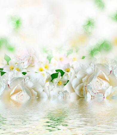 considerable: Spring flowers peonies and jasmine. spring flowers