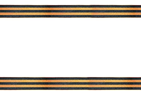 may 9: St. George ribbon isolated on white background