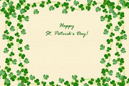 leafed: green clover leaves. St.Patrick s Day. trefoil