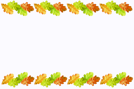 Leaves isolated on white background. Golden autumn