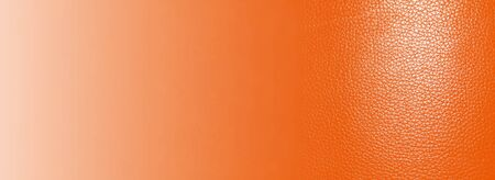 Orange leather texture background close up. Top view Stockfoto