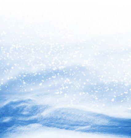 Hintergrund. Winterlandschaft. Die Textur des Schnees Standard-Bild