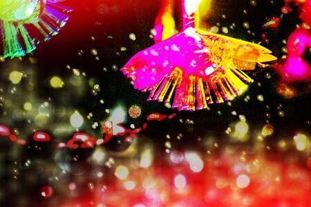 Arrière-plan festif flou. Carte de Noël de vacances abstraite.