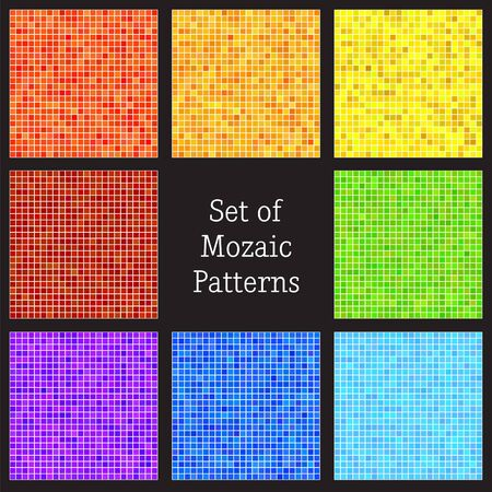 Set of vector patterns of colorful mosaic  Vector illustration Stock Vector - 16938462