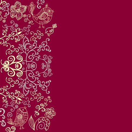 Floral vector background, ethnic ornament Vector