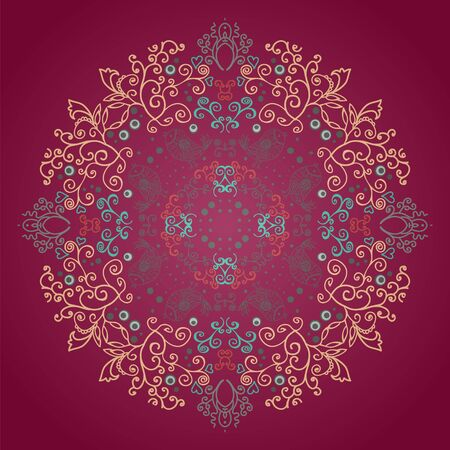 Circle ornament, ornamental round lace Stock Vector - 16938473