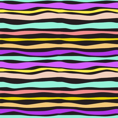 Color Waves Lines Seamless Background  illustration for your design Stock Vector - 17068045