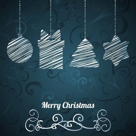 Christmas  greeting card on seamless pattern Stock Vector - 17068130
