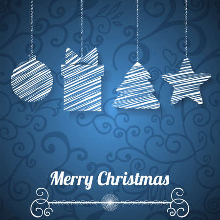 Christmas greeting card on seamless pattern Stock Vector - 17068104