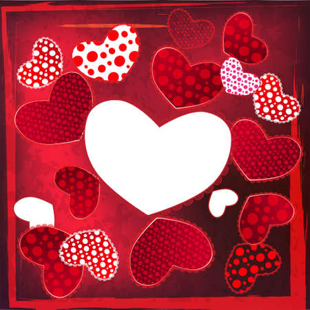 Love Valentine's Day Wedding Heart Card with place for your text Stock Vector - 17294119
