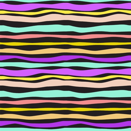 Color Waves Lines Seamless Background. illustration for your design Stock Vector - 17293905