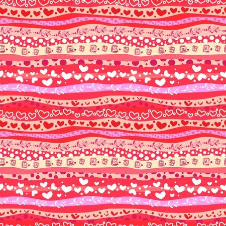Linhas de Red Love Valentin Ondas Dia Fundo sem emenda.