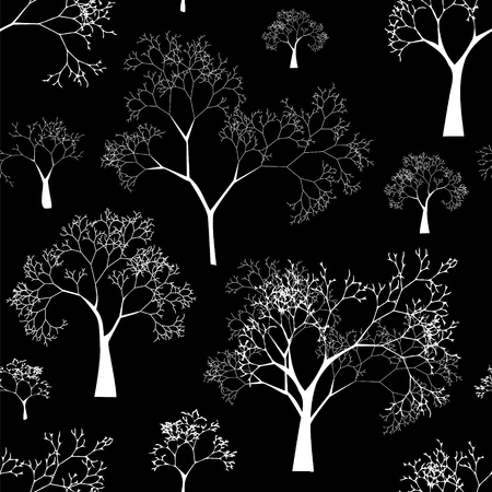 Seamless Pattern of Tree Silhouettes Stock Vector - 17293984