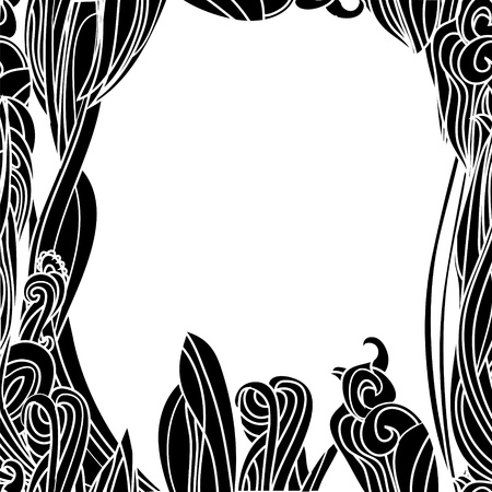Floral Waves Lines  Vertical Background with place for your text Stock Vector - 17293934