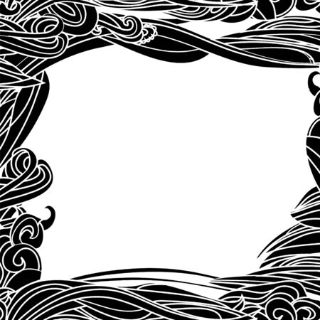 Floral Waves Lines Horizontal Background with place for your text Stock Vector - 17293939