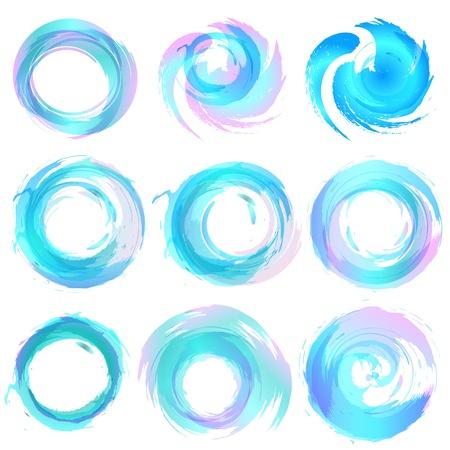 Elementos de design em azul cores �cones. Ilustra��o