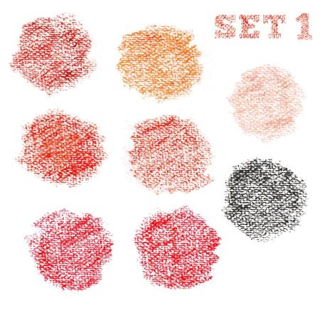 Set 1 of dry pastel polka dot circles pattern Stock Vector - 17294269