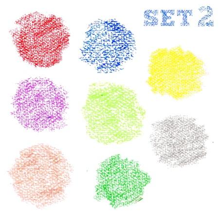 Set 2 of dry pastel polka dot circles pattern Stock Vector - 17294178