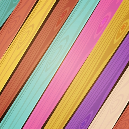 colorful wooden background. Stock Vector - 17293978