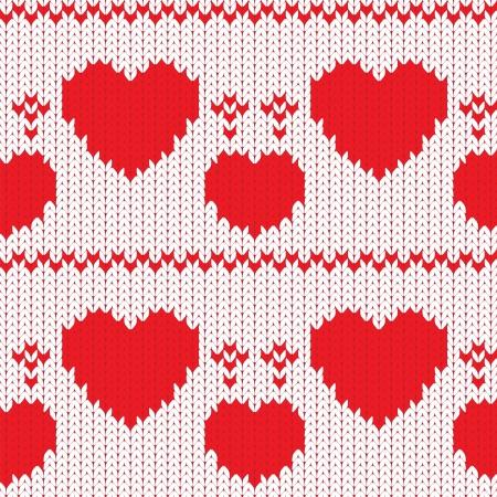 Malha têxteis decorativos corações dos namorados, teste padrão sem emenda