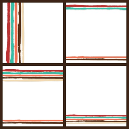 Rainbow Lines Background  Set of 4 illustrations for your business work Stock Vector - 17294174
