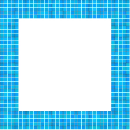 Mosaic Frame Blue for your design