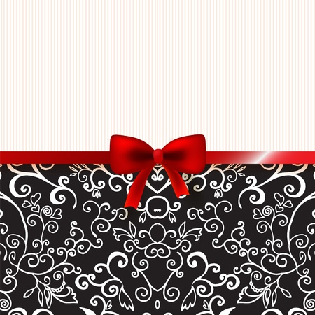 Vintage romantic background floral card with place for you text Stock Vector - 17294086