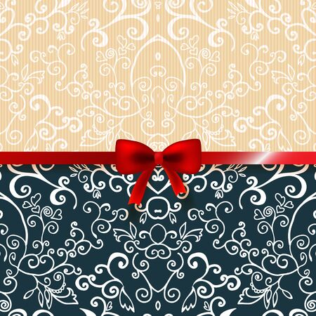 Vintage romantic background floral card with place for you text Stock Vector - 17294051