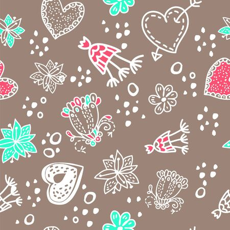 Doodle floral seamless pattern. Seamless pattern can be used for wallpaper, pattern fills, web page background, surface textures. Stock Vector - 17590232