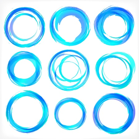 Design elements set in blue colors icons Vector