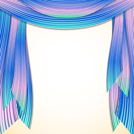Abstract striped background, frame for your web design Vector