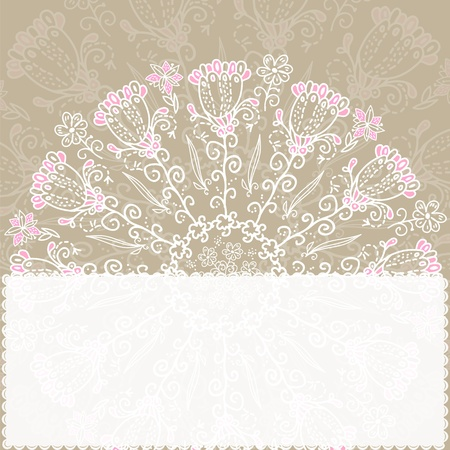 Vintage ethnic vector ornament mandala background with place for youre text Vector