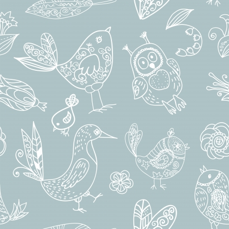 Birds seamless silhouette pattern for your design Vector