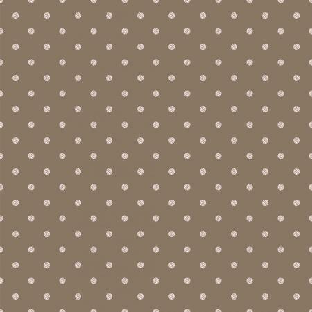 Vintage brown beige background with grunge polka dots seamless pattern