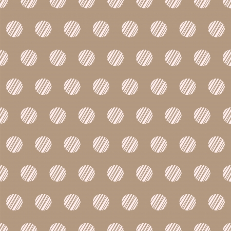 Vintage brown beige background with grunge polka dots seamless pattern Vector